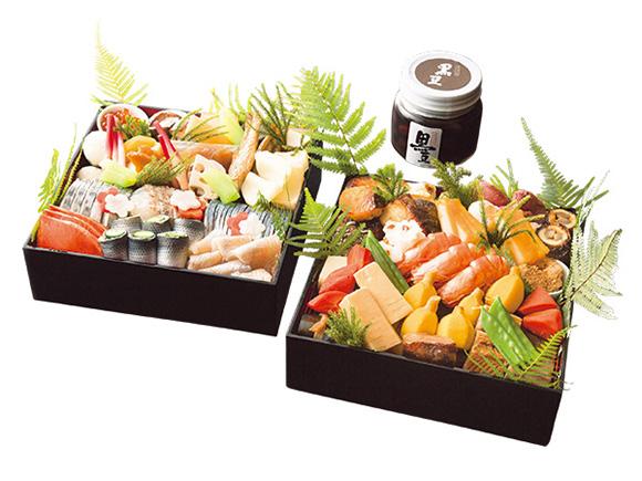 日本料理「かが万」の和風おせち 二重折