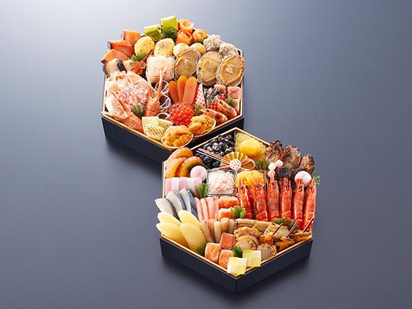宝箱のような華やかな海鮮おせち