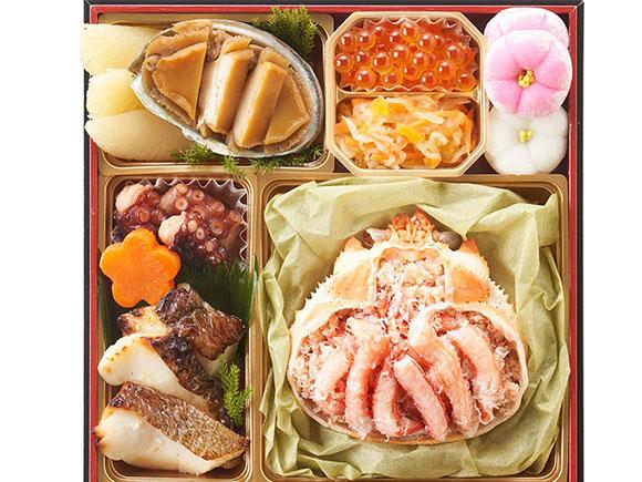 ズワイガニの甲羅盛も味わえる豪華海鮮メニュー