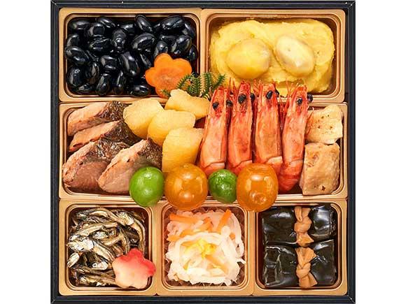 縁起物や山海料理が満載