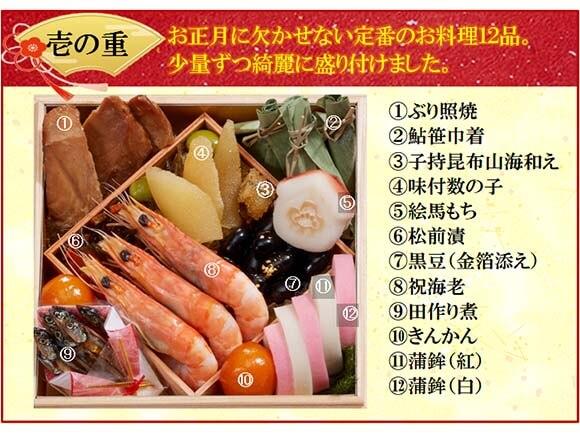 壱の重は定番料理12品