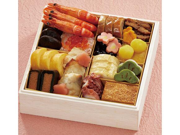 伝統的な日本料理17品が入ったの和の重