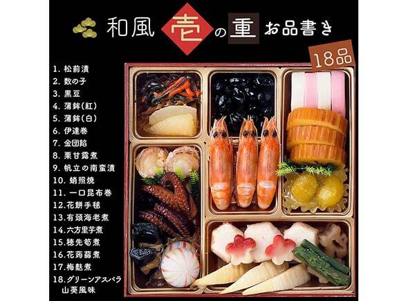 壱のお重には伝統的な日本料理